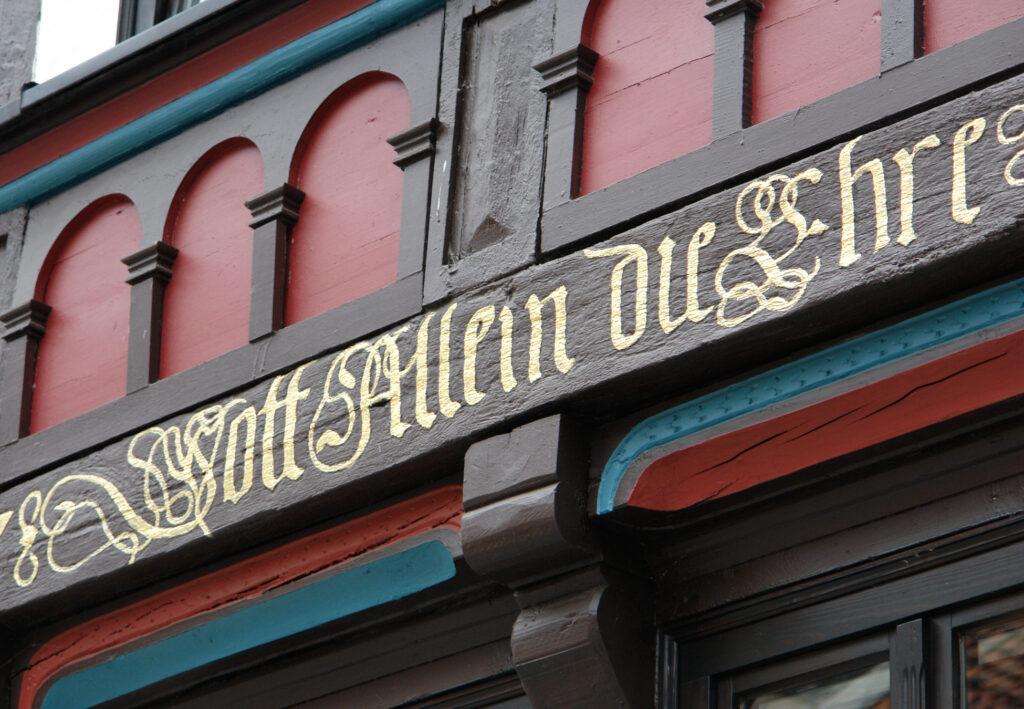 Facebook der Reformation – Osterwiecker Hausinschriften